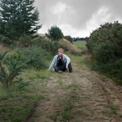 Luke Wicks on location at Yorkshire Sculpture Park, Wakefield for Aimlessness Vol.1